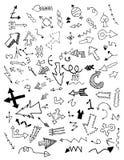 Doodle стрелки иллюстрация штока
