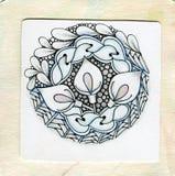 Doodle татуировки Zentangle Стоковое Изображение RF