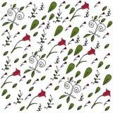 Doodle флористическая предпосылка Стоковая Фотография RF