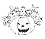 Doodle хеллоуин Стоковая Фотография RF