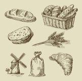 Doodle хлеба иллюстрация вектора