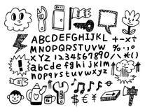 doodle шаржа Стоковое фото RF