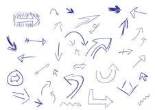 doodle стрелок Стоковые Фотографии RF