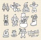 Χριστούγεννα doodle Στοκ εικόνα με δικαίωμα ελεύθερης χρήσης