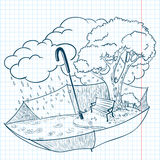 doodle осени Стоковые Изображения