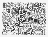 Στοιχείο δικτύων Doodle Στοκ Φωτογραφίες
