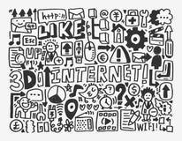 Στοιχείο δικτύων Doodle Στοκ φωτογραφία με δικαίωμα ελεύθερης χρήσης