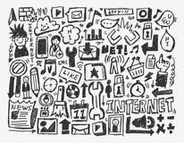 Στοιχείο δικτύων Doodle Στοκ Εικόνες