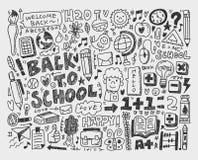Το χέρι σύρει doodle το σχολικό στοιχείο Στοκ φωτογραφία με δικαίωμα ελεύθερης χρήσης