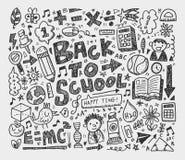 Το χέρι σύρει doodle το σχολικό στοιχείο Στοκ Εικόνες
