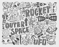 Элемент космоса Doodle Стоковое Фото