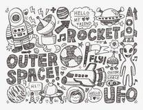 Элемент космоса Doodle иллюстрация штока