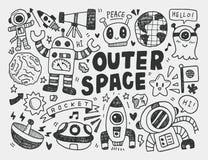 Элемент космоса Doodle иллюстрация вектора