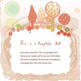 Рамка Doodle винтажная с садом Стоковое Изображение