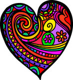 Doodle сердца влюбленности Стоковое Фото