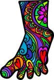 Doodle ноги Стоковые Фотографии RF