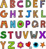 Doodle текста алфавита Стоковое фото RF