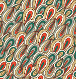 Doodle abstract background. Seamless bright pattern. Psychedelic drawn texture Royalty Free Stock Image