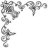 Doodle abstract black handdrawn frame. Corner Stock Photos