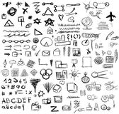 Doodle abstract business icons Royalty Free Stock Photo
