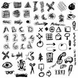 doodle abstract business icons Royalty Free Stock Image