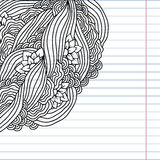 Doodle abstract card template. Vector background Stock Photos