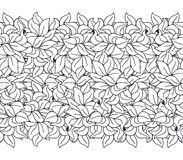Doodle abstract floral seamless pattern Stock Image