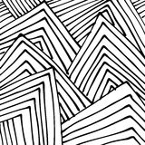 Doodle abstract hand drawn pattern Royalty Free Stock Images