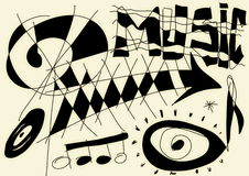 Doodle abstract music background. And texture Royalty Free Stock Images