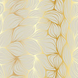 Doodle abstract ripples. Seamless pattern. Doodle golden and beige abstract ripples. Seamless pattern royalty free illustration