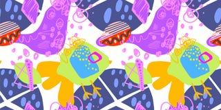 Doodle abstract trendy seamless pattern, modern contemporary art. Vector illustration vector illustration
