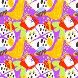 Doodle abstract trendy seamless pattern, modern contemporary art. Vector illustration stock illustration