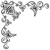 Doodle abstrakcjonistyczna czarna handdrawn rama Zdjęcia Stock
