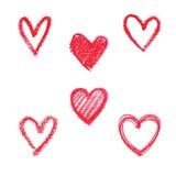 Doodle abstrakcjonistyczna ręka rysujący deseniowy serce kształtujący Zdjęcia Stock