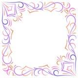 Doodle abstrakta kąta wektorowa rama Zdjęcia Royalty Free