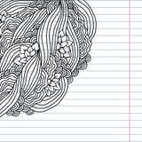 Doodle abstrakta karty szablon Zdjęcia Stock