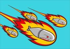Doodle airstrike Στοκ εικόνες με δικαίωμα ελεύθερης χρήσης