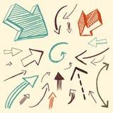 Doodle ajustado - setas Foto de Stock Royalty Free