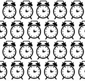 Doodle alarm clock seamless pattern background Royalty Free Stock Photos