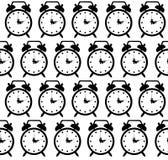 Doodle alarm clock seamless pattern background Royalty Free Stock Photos