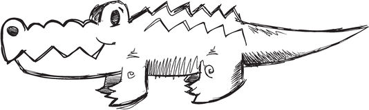 Doodle Alligator Vector Stock Photography