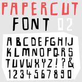 Hand drawn doodle font set Stock Photography