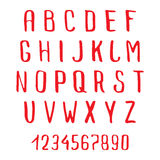 Doodle Alphabet. Handwriting Doodle Alphabet. Vector Hand Drawn Fonts Stock Photo