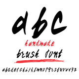 Doodle Alphabet. Vector alphabet. Hand drawn letters. Letters of the alphabet written with a brush Stock Illustration
