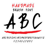 Doodle Alphabet. Vector alphabet. Hand drawn letters. Letters of the alphabet written with a brush Royalty Free Stock Photo