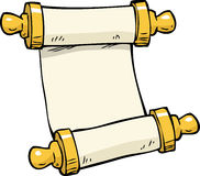 Doodle ancient scroll. Cartoon doodle ancient scroll on a white background illustration Vector Illustration