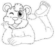 Doodle animal for bear cub Royalty Free Stock Photos