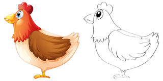 Doodle animal for chicken stock illustration