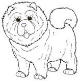 Doodle animal for chow chow dog. Illustration Royalty Free Stock Images