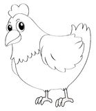 Doodle animal for hen. Illustration Royalty Free Stock Photo